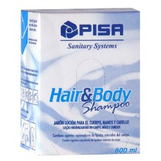 PISA JABON HAIR AND BODY CAJA DE 12 SACHETS DE 800 ML