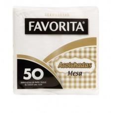 SERVILLETA FAVORITA ACOLCHADA MESA CAJA DE 40 PAQUETES DE 50 SERV. C/U
