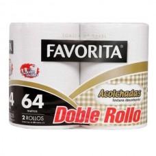 TOALLA FAVORITA ACOLCHADA 32 MTS DOBLE ROLLO BOLSA DE 12 ROLLOS