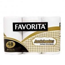 TOALLA FAVORITA ACOLCHADA 16 MTS D/H BOLSA DE 24 ROLLOS