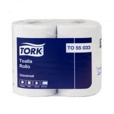 TORK UNIVERSAL TOALLA ROLLO D/H BOLSA DE 12 ROLLOS DE 24 MTS