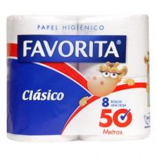 HIGIENICO FAVORITA CLASICO 50 MTS HS BOLSA DE  48 ROLLOS
