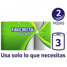 TOALLA FAVORITA CLASICA MULTICORTE 12.5 MTS 24 ROLLOS (8X3)